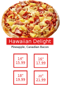 Final Pizza Hawaiian Delight 2
